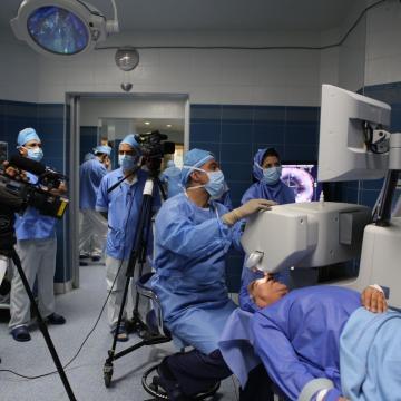 بیمارستان و مراکز فوق تخصصی چشم پزشکی نور مجهز به دوربین های تحت شبکه ژئوویژن